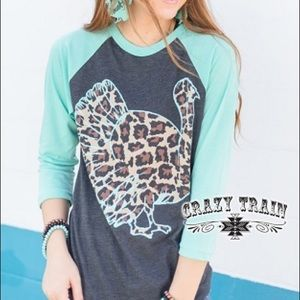 Crazy Train Tops - Wobble Gobble baseball tee